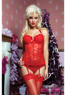 Some Like It Hot Bustier - Red - Large