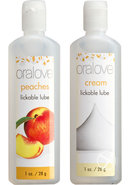 Oralove Delicious Duo Lickable Peaches And Cream Lubricant...